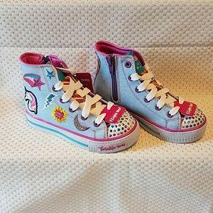 Cool Twinkle Toes by Skechers light up zip sneaker